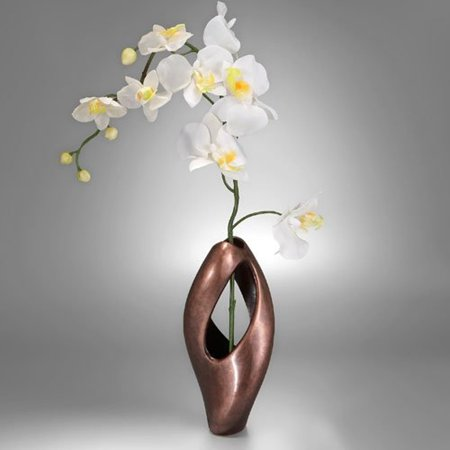 Nambe Pebble Twist Bud Vase With Orchid Walmart