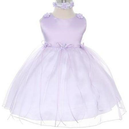Rosebud Flower Bow Ribbons Baby Little Girl Flower Girls Dresses Lavender S](Baby Girls Flower Girl Dresses)