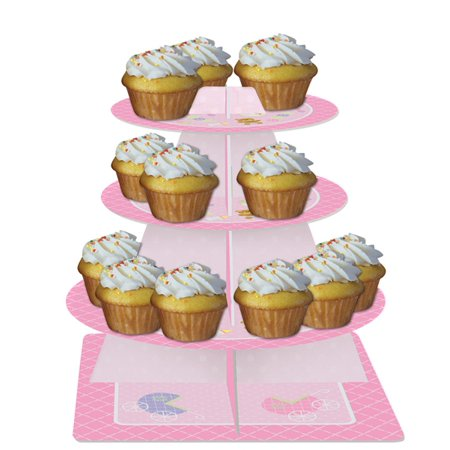 Baby Shower 'Teddy Baby Pink' 3-Tiered Cupcake Stand (1ct)