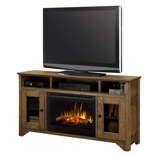 Dimplex Walker TV Stand with Electric Fireplace in Warm