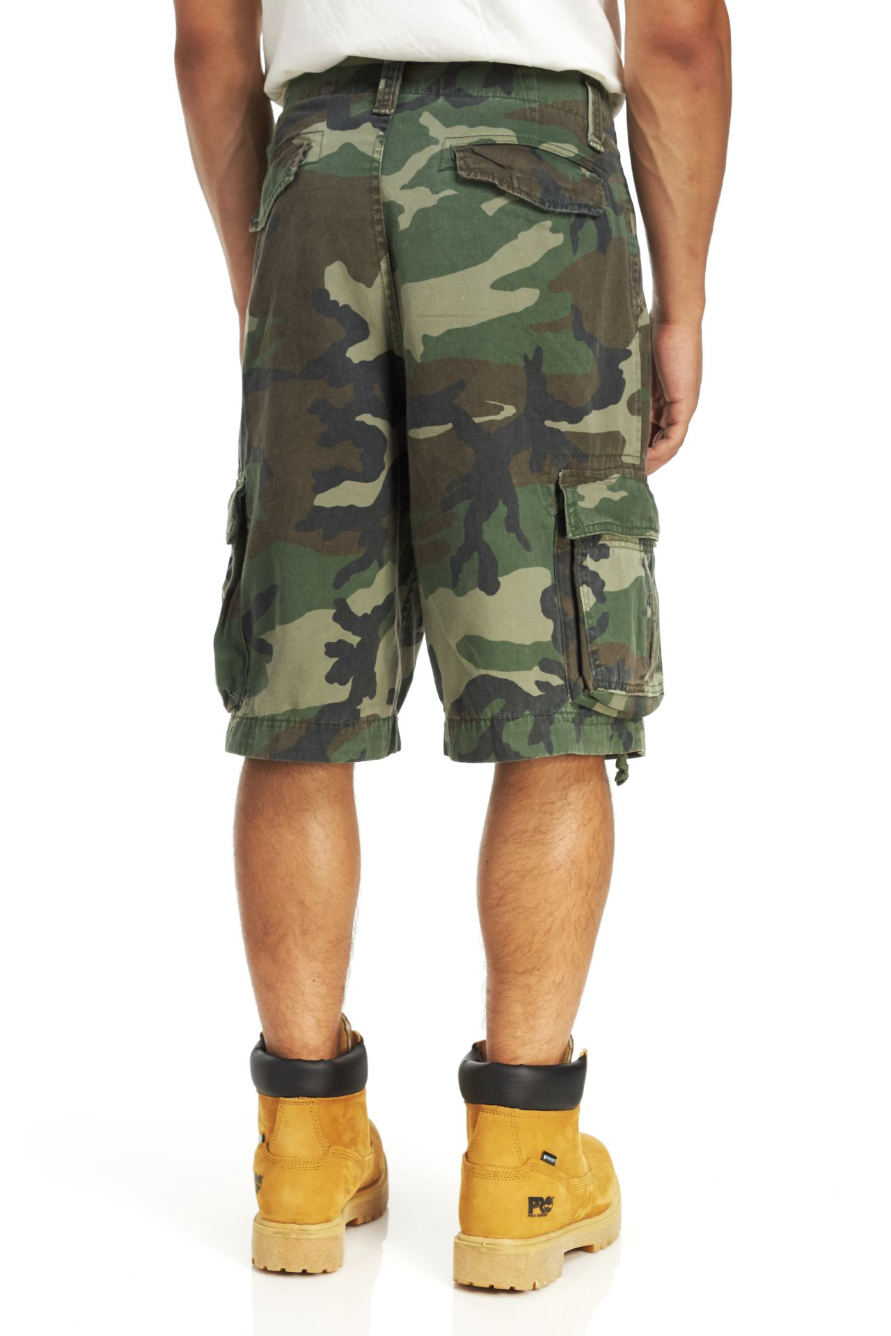Rothco Woodland Camo Vintage Infantry Utility Shorts 2540