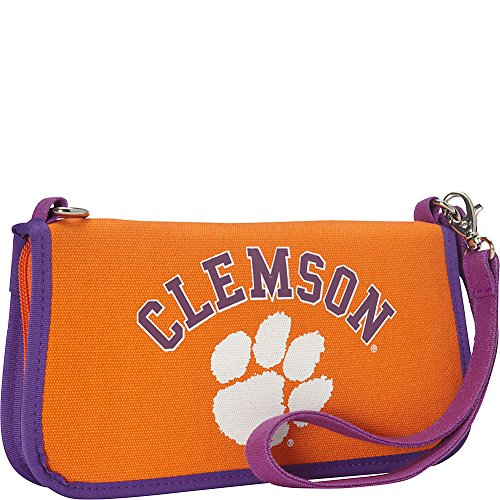 Ashley M Clemson University Canvas Clutch Wallet with Strap