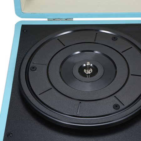 Turntable With Speakers Vintage Phonograph Record Player Stereo Sound Blue -type - image 6 de 7