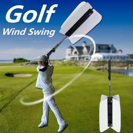 Golf Swing Power Fan Resistance Practice Train Aid Grip Trainer Guide White Yellow US
