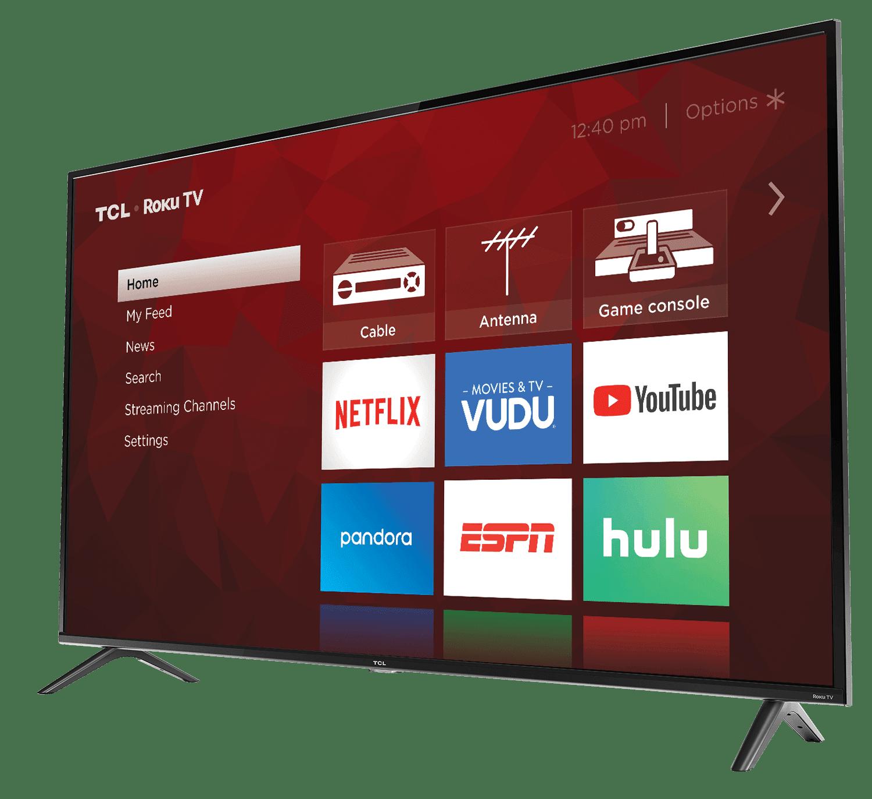 Tcl 65 Class 4k Uhd Led Roku Smart Tv Hdr 4 Series 65s421 Walmart Com Walmart Com