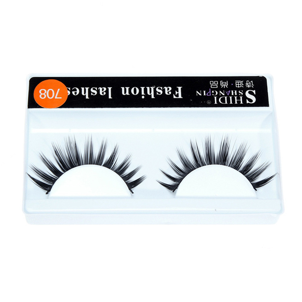 Outtop 1 Pairs Long Makeup Cross Thick False 3D Dense Eyelashes Eye Lashes Nautral
