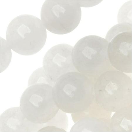 White Jade Serpentine 8mm Round Beads 15 Inches 1 Strand