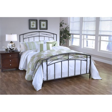 Hillsdale Morris Twin Spindle Bed in Magnesium Pewter