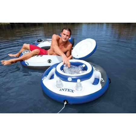 Intex Mega Chill Inflatable Beverage Coolers & River Run Lounge Inflatable Tubes - image 1 of 11