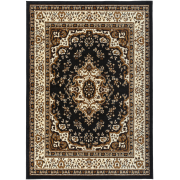 Antep Rugs Kashan King Collection Himalayas Oriental Polypropylene Indoor Area Rug Black And Beige 8