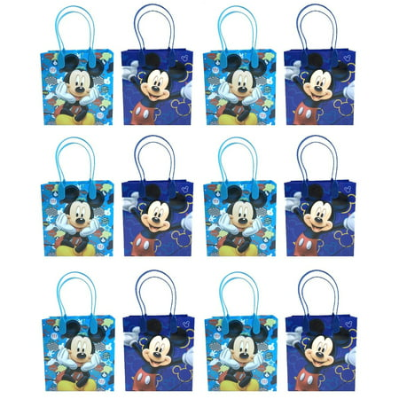 Party Mouse (Mickey Mouse 12 Authentic Licensed Party Favor Reusable Medium Goodie Gift Bags)