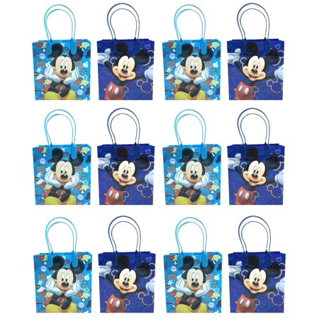 Mickey Mouse 12 Authentic Licensed Party Favor Reusable Medium Goodie Gift Bags - Mickeys Halloween Party Tickets