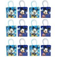 """Mickey Mouse 12 Authentic Licensed Party Favor Reusable Medium Goodie Gift Bags 6"""""""