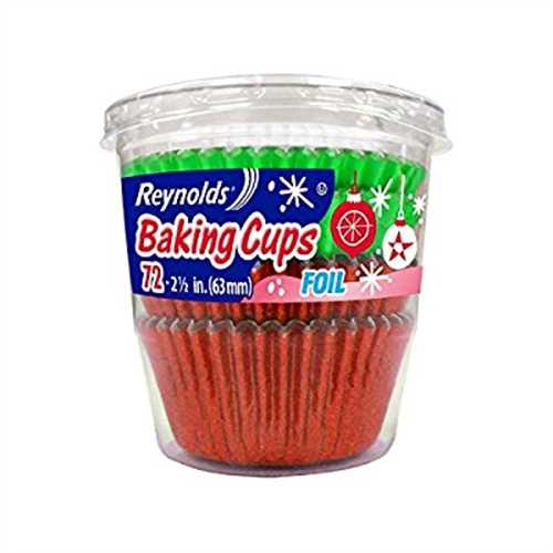 Reynolds Holiday Green & Red Foil Baking cups 144