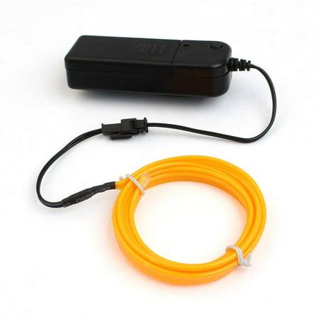 Flexible LED EL Wire Neon Light Dance Party Car Decoration + Battery Case