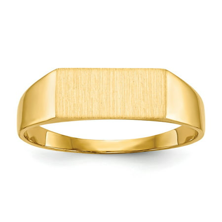 Solid 14k Yellow Gold Mens Signet Ring Size 8