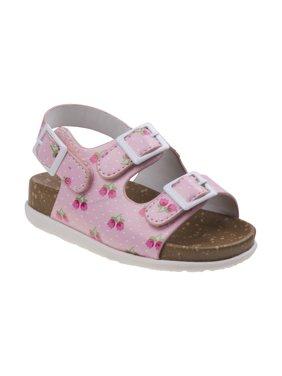 Laura Ashley O-LA81766NPINK6 Flower Cork Lining Sandals for Toddler Girls, Pink - Size 6