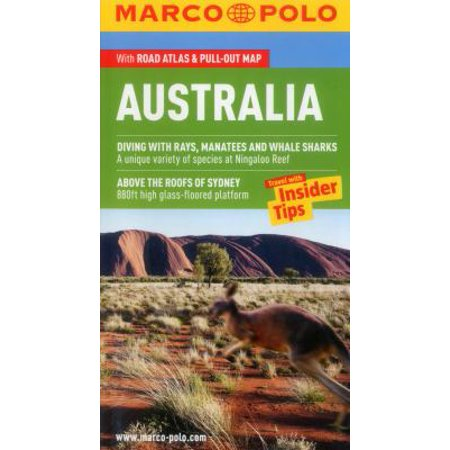 Marco Polo Australia  The Travel Guide With Insider Tips   Road Atlas   Pull Out Map