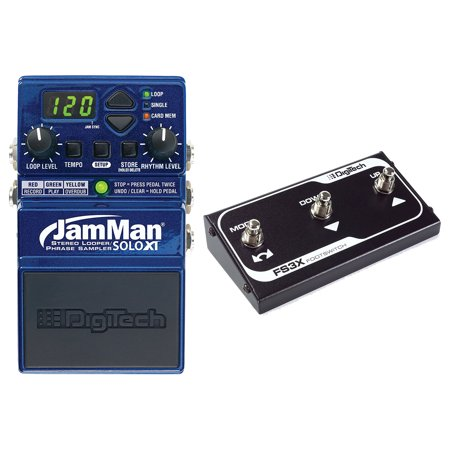 Digitech JMSXT Jamman Solo XT Stereo Looper Phrase Sampler Pedal with FS3X Three-Function Foot Switch