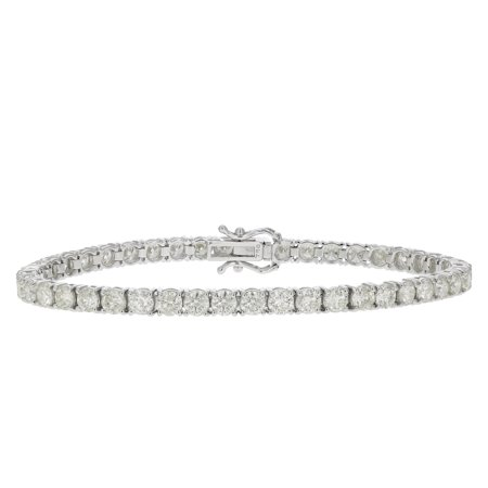 Si1 Clarity Loose Diamond - 8 cttw Certified Classic Tennis Diamond Bracelet 14K White Gold SI1-SI2 Clarity O-P Color