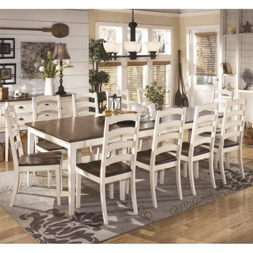 11 piece dining set Ashley Whitesburg 11 Piece Extendable Dining Set in Brown and  11 piece dining set