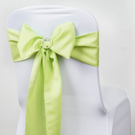 BalsaCircle 5 pcs Polyester Chair Sashes Bows Ties - Wedding Party Ceremony Reception Event Decorations Unique Supplies