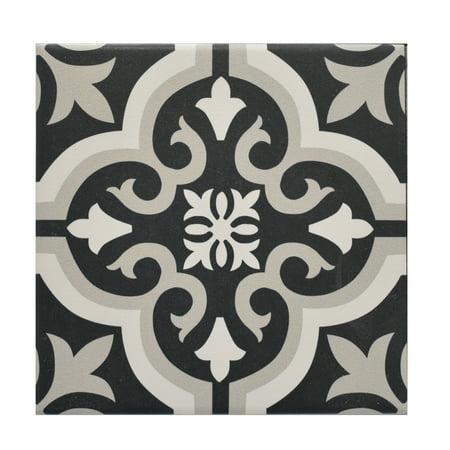 Black Ceramic Tile (Visions 8 x 8 Ceramic Tile in Seville Black (10.76 sqft/25)