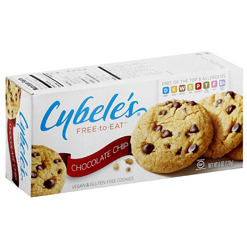 Generic Cybele's Free - to - Eat Chocolate Chip Vegan & Gluten Free Cookies, 6 oz, (Pack of 6)
