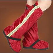 SHOEGIRLS Waterproof Shoes Cover Reusable Rain Slip-resistant Boots Covers for Men/Women M Wine Red