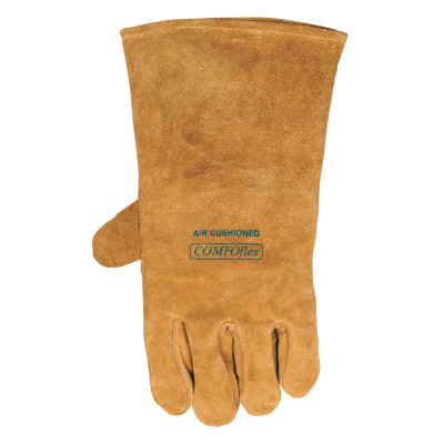 Premium Leather Welding Gloves, Leather, Large Left Hand, Buck Tan