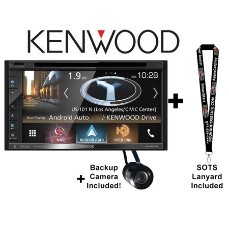 "Kenwood DNX575S 6.8"" Multimedia Receiver with Garmin Navigation and Apple Carplay and Android Auto with Backup camera included and a SOTS Lanyard"