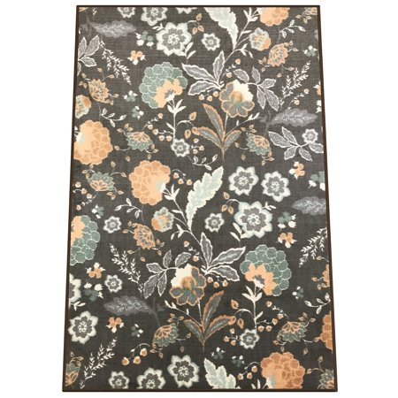 Silk & Sultans Agathe Collection Floral Design, Pet Friendly, Non-Skid Area Rug with Rubber Backing, 5