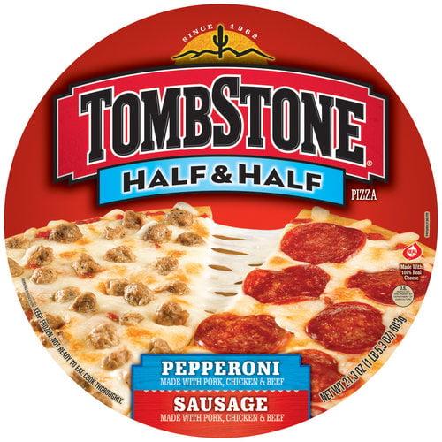 Tombstone Half & Half Pepperoni/Sausage Pizza, 21.3 oz