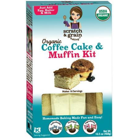 Organic Coffee Cake & Muffin Kit, 16.5 oz - Halloween Carrot Cake Muffins