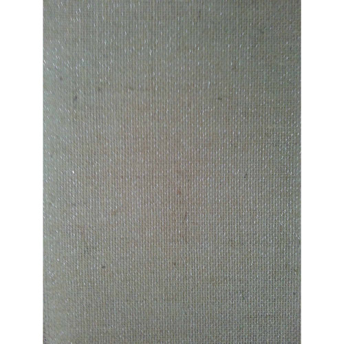 Laminated Burlap Sheets, Natural with Silver Metallic, 2 Packs