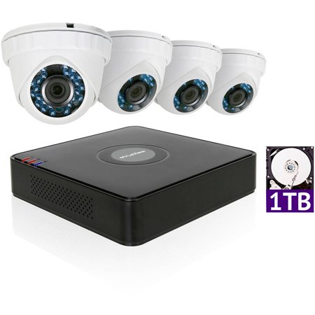Laview 1080P Hd 4 Cameras 4Ch Home Video Security System W  1Tb Hdd 2Mp Night Vision Cam Cctv Surveillance Kit