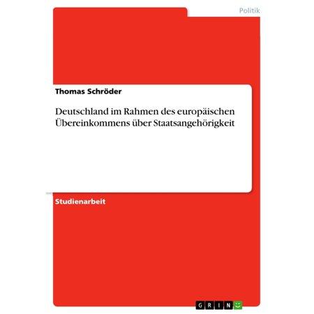 Deutschland im Rahmen des europäischen Übereinkommens über Staatsangehörigkeit - eBook (Yellow Rahmen Sonnenbrillen)