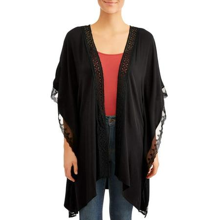 Time and Tru Women's Open Kimono](Scarves In Bulk)