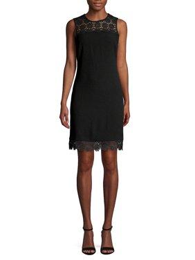 Lace-Trimmed Sheath Dress