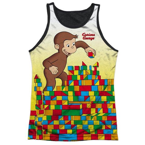 82ad592e16b51 Curious George - Curious George Books Cartoon Movie Monkey Play Adult Black  Back Tank Top Shirt - Walmart.com