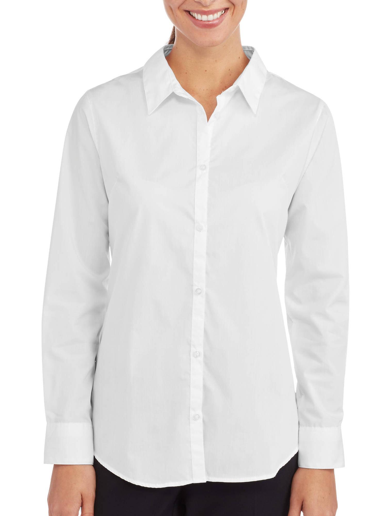 5e4c76a6924973 George Womens Career Essentials Short Sleeve Button Down Shirt ...