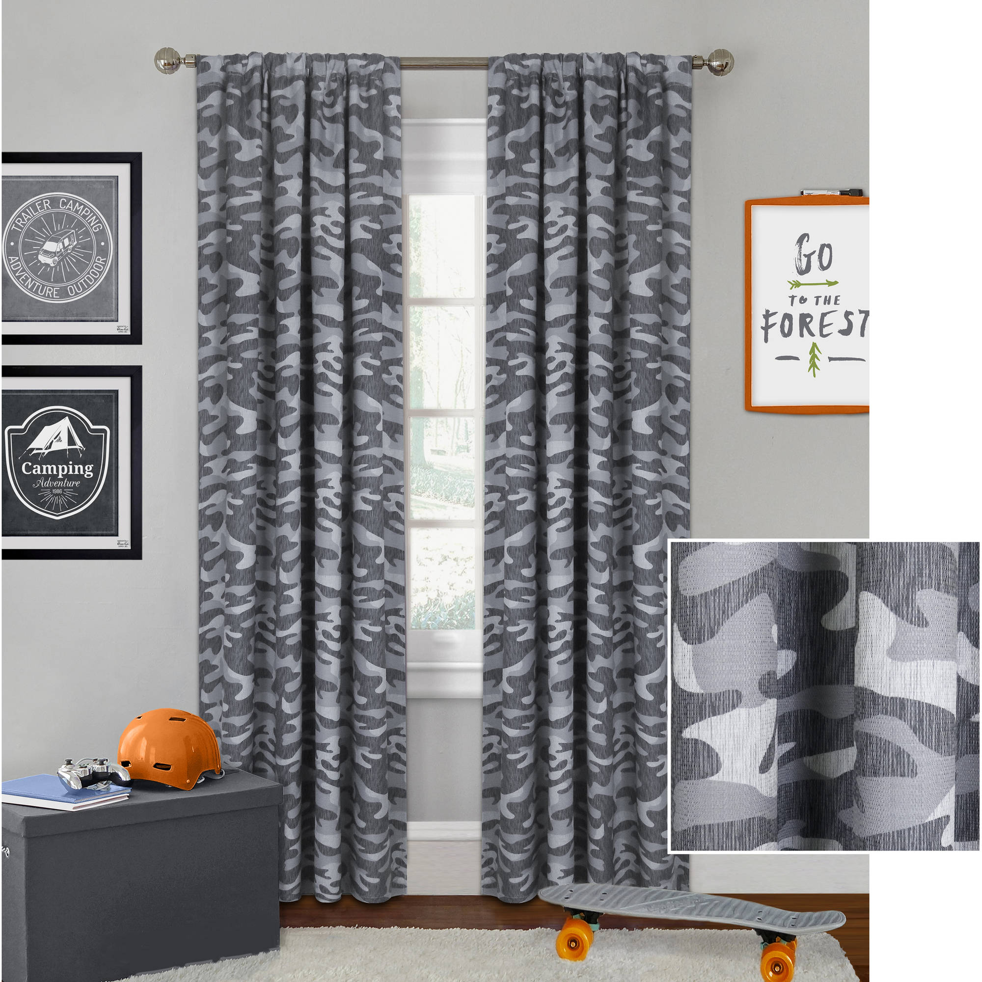 Better Homes and Gardens Camo Curtain Panel