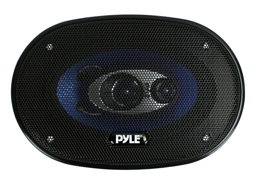 """2 New Pyle PL463BL 4x6/"""" 240W 3 Way Car Coaxial Audio Speakers Stereo PAIR Blue"""
