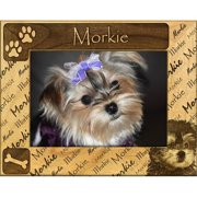 Giftworks Plus DBA0122 Morkie, Alder Wood Frame, 4 x 6 In