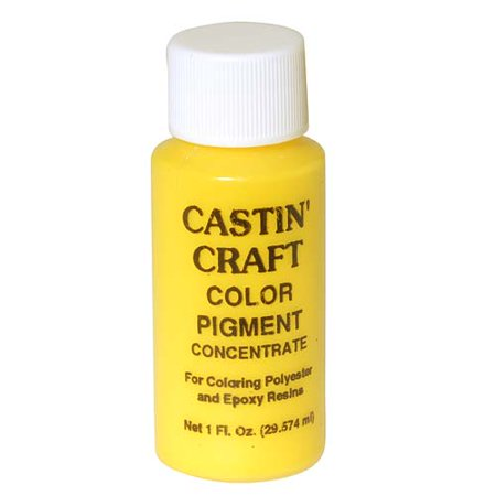 Castin craft casting epoxy resin opaque yellow pigment dye for Castin craft resin dye