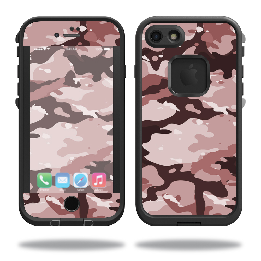 MightySkins Protective Vinyl Skin Decal for Lifeproof iPhone 7 Case fre Case wrap cover sticker skins Brown Camo