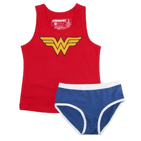 variety of designs and colors huge discount buy cheap DC Comics Wonder Woman Girl's Tank/Underwear Underoos Set