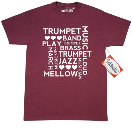 - Inktastic Trumpet Music Word Cloud T-Shirt Player Quote Musical Instrument Brass Marching Band Jazz Instruments Mens Adult Clothing Apparel Tees T-shirts Hws