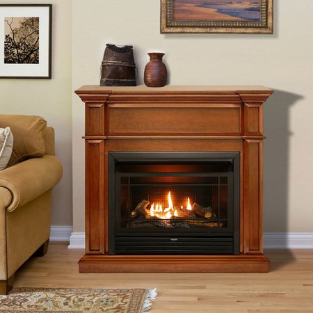 Duluth Forge Dual Fuel Ventless Gas Fireplace - 26,000 BTU, Remote Control, Apple Spice Finish, Model DFS-300R-3AS ()