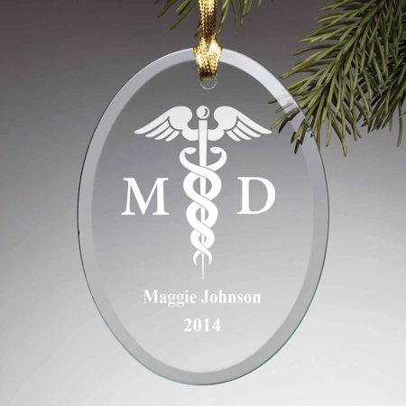 Personalized Glass Christmas Ornament - Medical ()